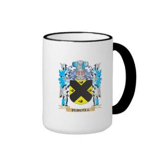 Escudo de armas de Purcell - escudo de la familia Taza A Dos Colores
