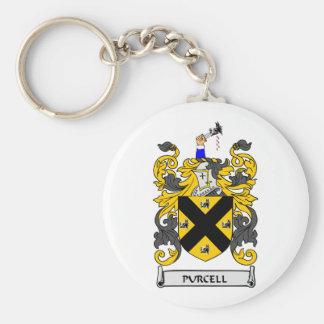 Escudo de armas de PURCELL Llavero Redondo Tipo Pin