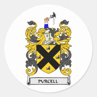 Escudo de armas de PURCELL Pegatina Redonda