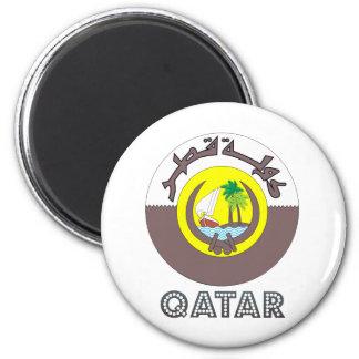 Escudo de armas de Qatar Imán Redondo 5 Cm