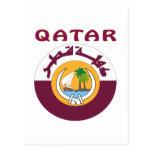 Escudo de armas de QATAR Tarjeta Postal