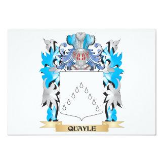 Escudo de armas de Quayle - escudo de la familia Invitación 12,7 X 17,8 Cm