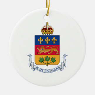 Escudo de armas de Quebec (Canadá) Adorno Redondo De Cerámica
