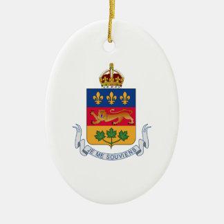 Escudo de armas de Quebec (Canadá) Adorno Ovalado De Cerámica