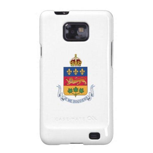 Escudo de armas de Quebec (Canadá) Samsung Galaxy SII Carcasa
