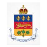 Escudo de armas de Quebec (Canadá) Plantilla De Membrete