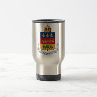 Escudo de armas de Quebec (Canadá) Taza