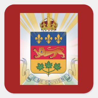 Escudo de armas de Quebec Pegatina Cuadrada