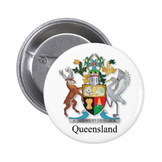 Escudo de armas de Queensland Pin Redondo 5 Cm