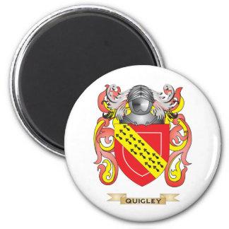 Escudo de armas de Quigley (escudo de la familia) Imán Redondo 5 Cm