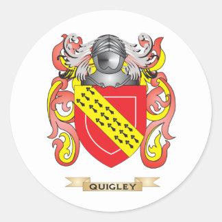 Escudo de armas de Quigley (escudo de la familia) Pegatina Redonda