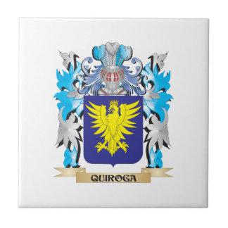 Escudo de armas de Quiroga - escudo de la familia Teja Cerámica