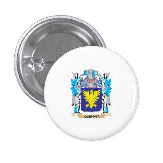 Escudo de armas de Quiroga - escudo de la familia Pin Redondo De 1 Pulgada