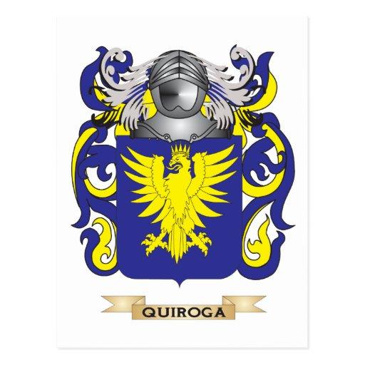 Escudo de armas de Quiroga (escudo de la familia) Postal