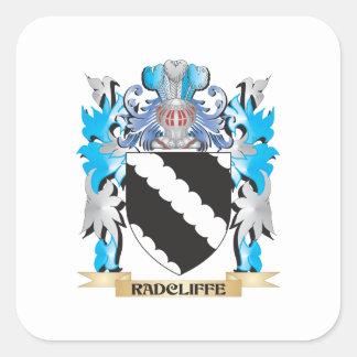 Escudo de armas de Radcliffe - escudo de la Pegatina Cuadrada