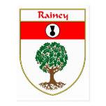 Escudo de armas de Rainey/escudo de la familia Tarjeta Postal