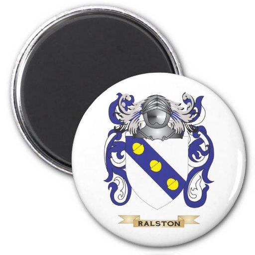 Escudo de armas de Ralston (escudo de la familia) Imán Redondo 5 Cm