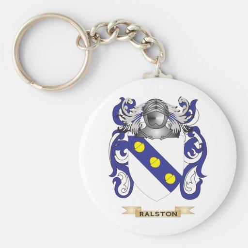 Escudo de armas de Ralston (escudo de la familia) Llaveros Personalizados