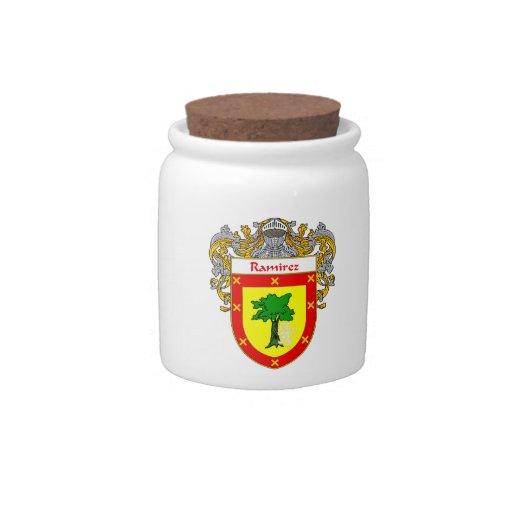 Escudo de armas de Ramírez/escudo de la familia Plato Para Caramelo