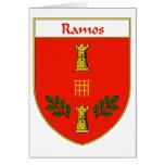 Escudo de armas de Ramos/escudo de la familia Tarjeta