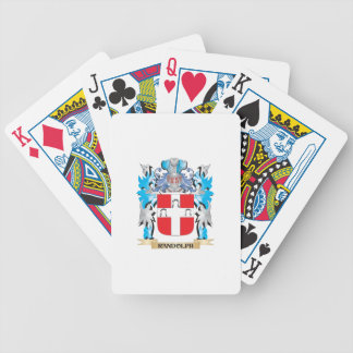 Escudo de armas de Randolph - escudo de la familia Baraja Cartas De Poker