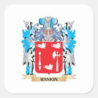 Escudo de armas de Rankin - escudo de la familia Pegatina Cuadrada