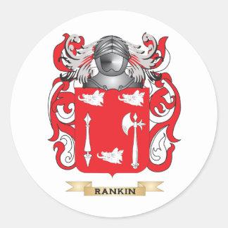 Escudo de armas de Rankin (escudo de la familia) Pegatina Redonda