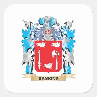 Escudo de armas de Rankine - escudo de la familia Pegatina Cuadrada