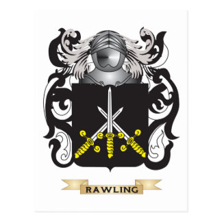 Escudo de armas de Rawling (escudo de la familia) Postales