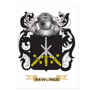 Escudo de armas de Rawlings (escudo de la familia) Postal
