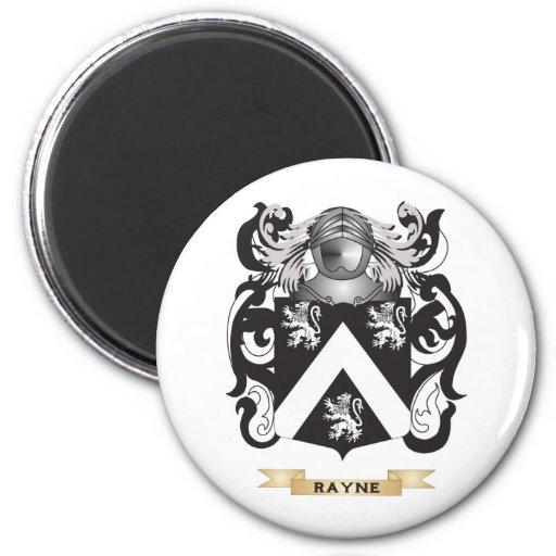 Escudo de armas de Rayne (escudo de la familia) Imán Redondo 5 Cm