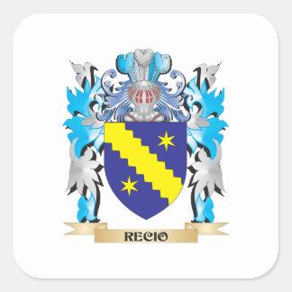 Escudo de armas de Recio - escudo de la familia Calcomanía Cuadradas