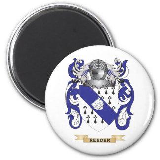 Escudo de armas de Reeder (escudo de la familia) Imán Redondo 5 Cm