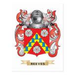 Escudo de armas de Reeves (escudo de la familia) Postal