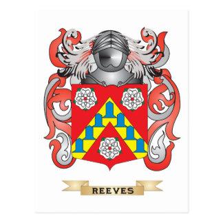 Escudo de armas de Reeves (escudo de la familia) Tarjetas Postales