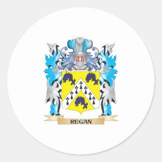 Escudo de armas de Regan - escudo de la familia Pegatina Redonda