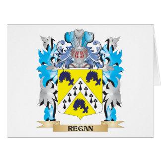 Escudo de armas de Regan - escudo de la familia Tarjeta De Felicitación Grande