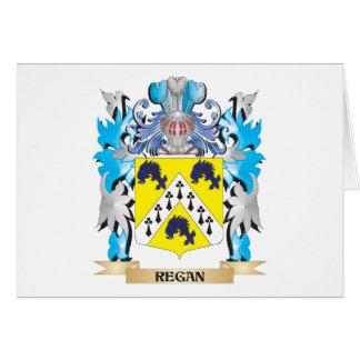 Escudo de armas de Regan - escudo de la familia Tarjeta Pequeña