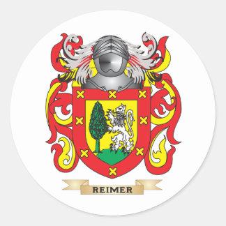 Escudo de armas de Reimer (escudo de la familia) Pegatinas Redondas