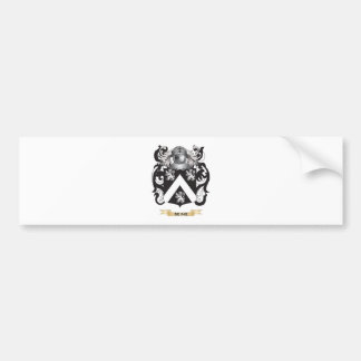 Escudo de armas de Reine (escudo de la familia) Etiqueta De Parachoque