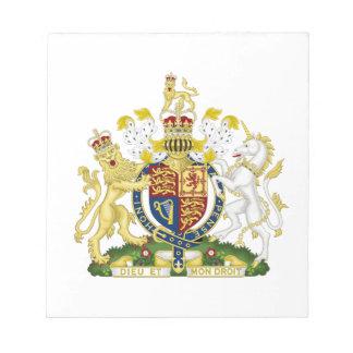 Escudo de armas de Reino Unido Libretas Para Notas