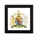 Escudo de armas de Reino Unido Caja De Regalo