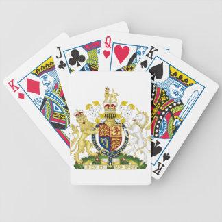 Escudo de armas de Reino Unido Baraja Cartas De Poker