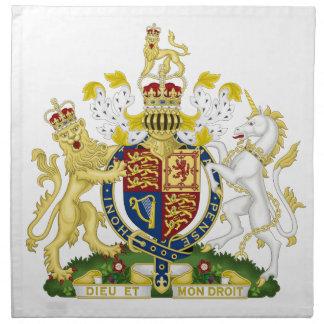 Escudo de armas de Reino Unido Servilletas Imprimidas