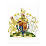 Escudo de armas de Reino Unido Tarjeta Postal