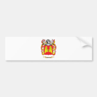 Escudo de armas de Rennie escudo de la familia Etiqueta De Parachoque