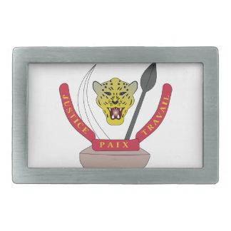 Escudo de armas de República Democrática del Congo Hebillas Cinturón Rectangulares