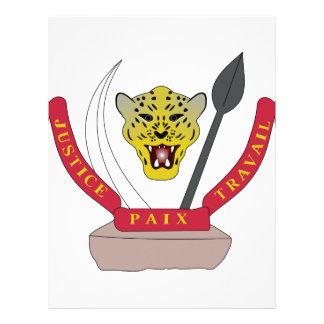 Escudo de armas de República Democrática del Congo Membrete Personalizado