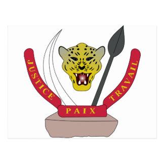Escudo de armas de República Democrática del Congo Tarjeta Postal