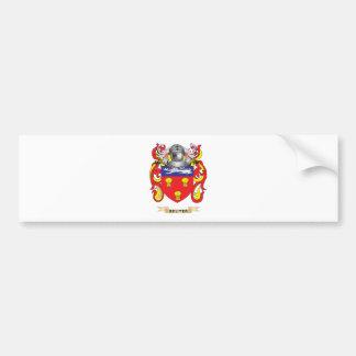 Escudo de armas de Reuter (escudo de la familia) Etiqueta De Parachoque